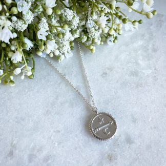 Silver Arrow Coin Necklace
