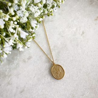 Harper Gold Floral Necklace