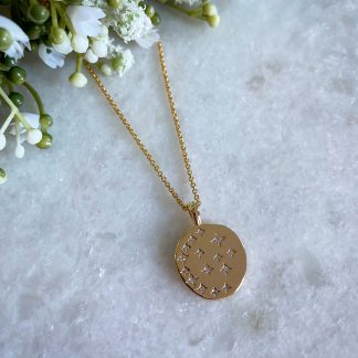 Starry Night Gold CZ Necklace