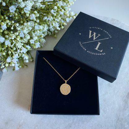 Starry Night Gold CZ Necklace