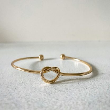 Gold Knot Bangle