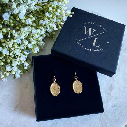 Juniper Gold Wildflower Earrings