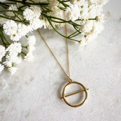 Cora Gold Circle Necklace