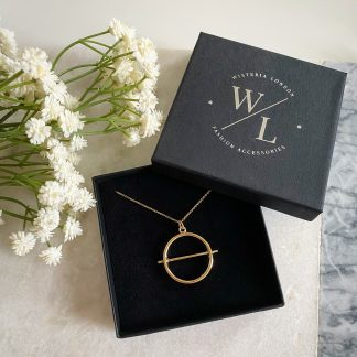 Cora Gold Circle Necklace