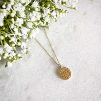 Luck Is On The Turn Coin Necklace