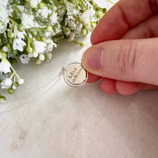 Luck Is On The Turn Silver Coin Necklace