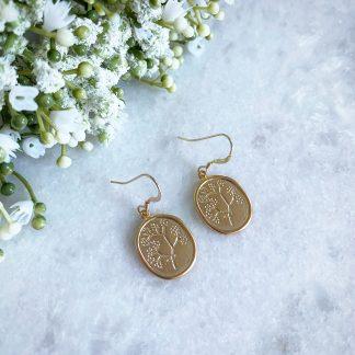 Harper Gold Floral Earrings