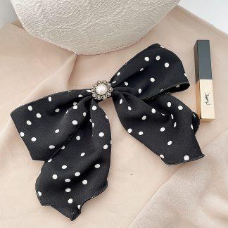 Bryony Black Spotty Hair Bow