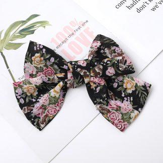 Fleur Black Hair Bow