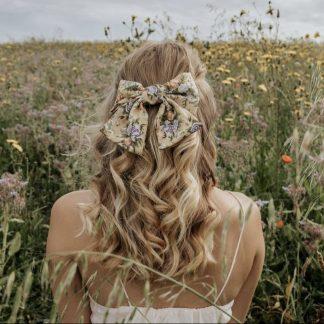 Fleur Yellow Hair Bow