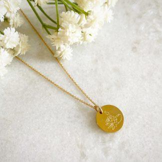 July Birth Flower Necklace