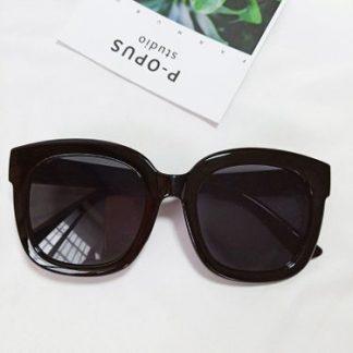 Tori Black Square Sunglasses
