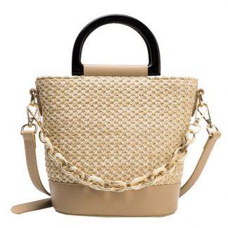 Beaumont Woven Bucket Bag