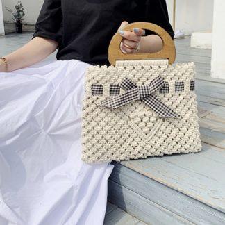 Gigi Woven Bow Bag