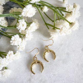 Gold Horn Earrings