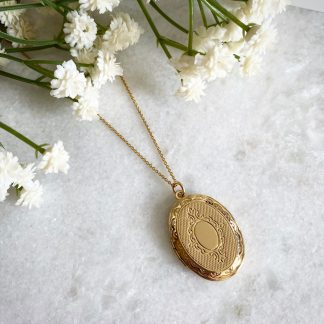 Tabitha Large Gold Oval Locket