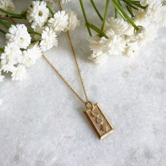 Selene Gold Moon and Star Necklace