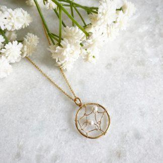 Pearl Dreamcatcher Necklace