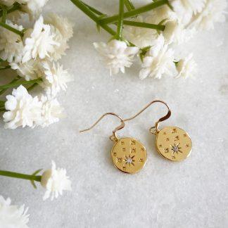 Etoile CZ Star Earrings