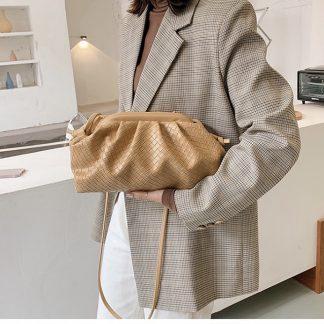 Henrietta Cream Cloud Clutch Bag