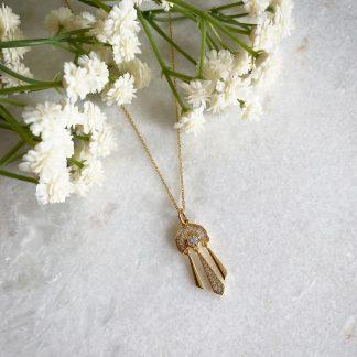 Allegra Deco Fan Necklace