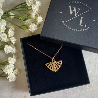 Geo Gold Fan Necklace