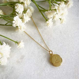'Smile for Today' Gold Necklace